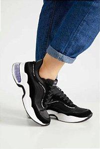 Tênis Dad Sneaker Feminino Preto - Via Marte