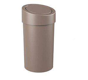 Lixeira Coza Press Warm Gray 9L - Brinox