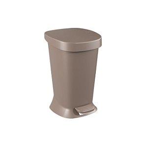Lixeira de Plástico com Pedal Square 5L Cinza - Brinox