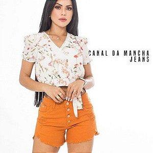 Short Desfiado Feminino Canal da Mancha