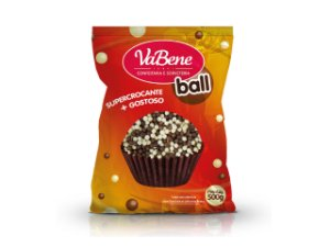 Choco Power Ball Mini Branco/Leite Vabene 500 G