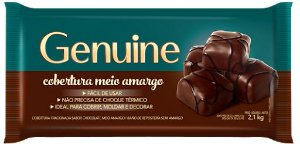 Chocolate Genuine Cargill Meio Amargo 2,1kg