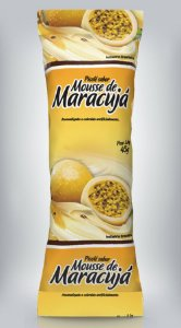 Embalagem BOPP Mousse de Maracujá 250gr