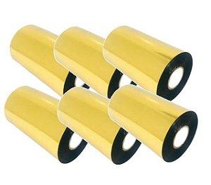 Ribbon Mastercorp K115 Cera/Resina 110x300M - 6 Unidades