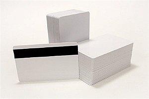Cartão de PVC Branco c/ Tarja Infrared Horizontal (pacote c/ 100 unidades)