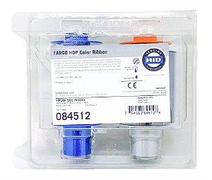 Fita de Impressão Colorida e verso Preto YMCKK, 500 impressões p/ Fargo HDP5600, Ribbon Fargo 84512