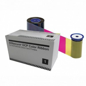 Fita de Impressão Colorida c/ verso Preto YMCKOKO, 300 impressões p/ linha DCP340 da Matica/ Edisecure
