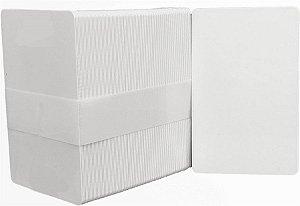 Cartão em PVC Branco - 200 unidades (8,6cm x 5,5cm) - Espessura: 0,76mm