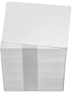 Cartão em PVC Branco - 100 unidades (8,6cm x 5,5cm) - Espessura: 0,76mm