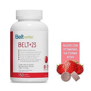Belt +23 - 150 Pastilhas Mastigáveis de Morango