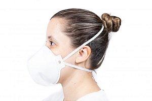 Máscara PFF2 S Respirador Sem Válvula - Branca