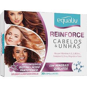 Equaliv Reinforce Cabelos & Unhas - 30 Cápsulas