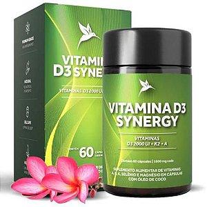 Vitamina D3 Synergy Pura Vida - 60 Cápsulas