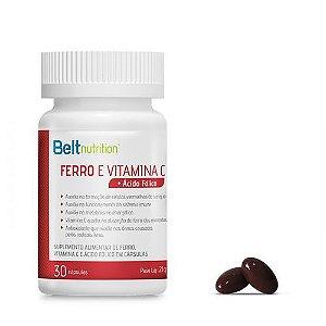 Belt Ferro e Vitamina C + Ácido Fólico - 30 Cápsulas