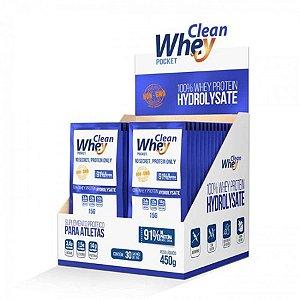 Clean Whey Hidrolisado - 30 sachês)