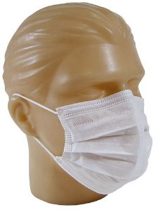 Máscara Cirúrgica Tripla Descartável Descarpack - 50 Unidades