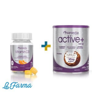 KIT: VITAMINA D3 GUMMY & ACTIVE +
