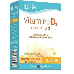 Althaia Vitamina D Colecalciferol - 60 Cápsulas - Kit 3 Un