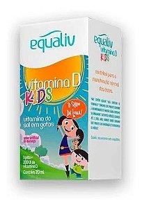 Vitamina D Kids Sabor Morango 200ui 20ml Equaliv - kit c/ 3