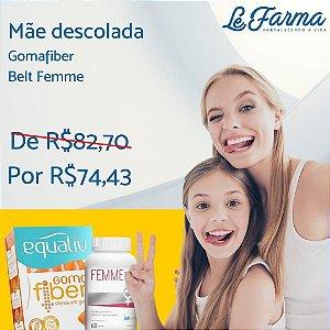 """KIT """"MÃE DESCOLADA"""" 01 GOMAFIBER (EQUALIV) + 01 BELT FEMME (BELT NUTRITION)"""