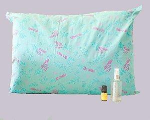 Kit Boa Noite Cinderela - Travesseiro Aromatizado + Óleo Essencial de Lavanda + Pillow Mist