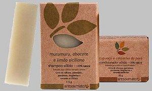Kit  Cabelos Normais a Mistos - Shampoo e Condicionador em Barra Ares de Mato