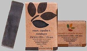 Kit Cabelos Normais a Oleosos - Shampoo e Condicionador em Barra Ares de Mato