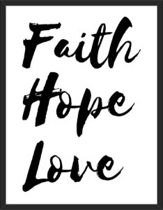 Faith, Hope and Love - A3