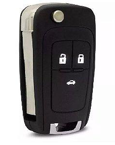 Chave canivete completa para veículo modelo gm chevrolet cruze 2012 até 2015