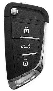Chave canivete completa para veículo modelo mitsubishi outlander 2014