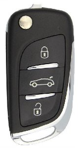 Chave canivete completa para veículo modelo peugeot 308 2012 até 2015