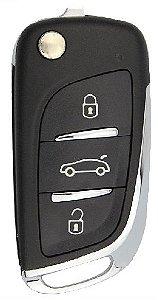 Chave canivete completa para veículo modelo peugeot rcz 2012 até 2015