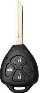 Chave telecomando completa para veículo modelo toyota corolla 2012 até 2014