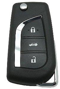 Chave canivete completa para veículo modelo toyota corolla 2015 até 2017