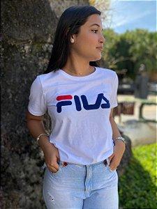 Camiseta Fila Basic Letter Feminina Branco 819881
