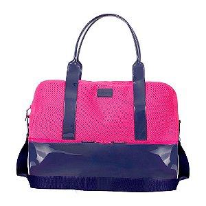 Mala Weekend Petite Jolie Azul/Pink PJ3540
