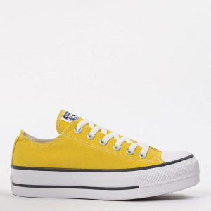 TÊNIS CONVERSE CHUCK TAYLOR ALL STAR PLATFORM LIFT OX AMARELO VIVO CT09630014