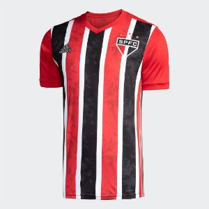 Camisa São Paulo II 20/21 Torcedor Adidas Masculina Vermelho e Branco FH7277