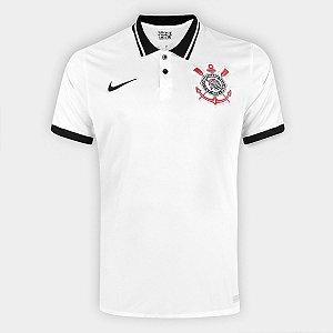 Camisa Corinthians I 20/21 s/n° Torcedor Nike Masculina Branco e Preto CD4250-100