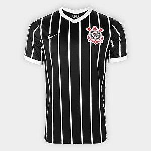 Camisa Corinthians II 20/21 s/n° Torcedor Nike Masculina Preto e Branco CD4249-010