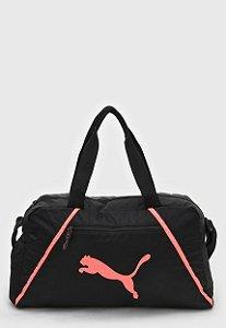 Bolsa Puma At Ess Grip Bag Pearl Preto/Rosa