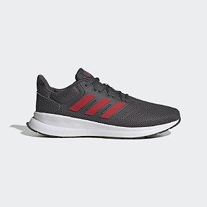 Tênis Adidas Run Falcon Masculino Cinza e Vermelho EG8602