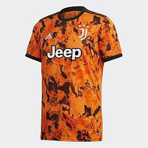 Camisa Juventus Third 20/21 s/n° Torcedor Adidas Masculina Laranja GE4856