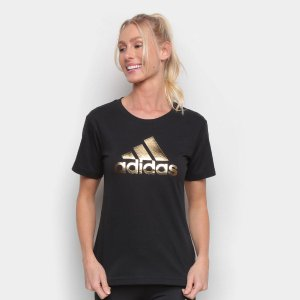 Camiseta Adidas Logo Feminina Preto GI4768