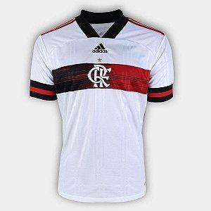 Camisa Flamengo II 20/21 s/n° Torcedor Adidas Masculina Branco EW5829