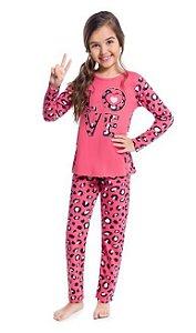 Kyly Pijama Inf Fem Ml 207.241 Cor Rosa Pink