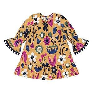 Nanai Vestido Inf Fem Malha Ml 600.392 Cor Amarelo