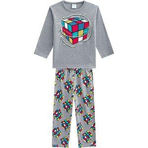 Kyly Pijama Inf Masc Ml 207.250 Cor Cinza