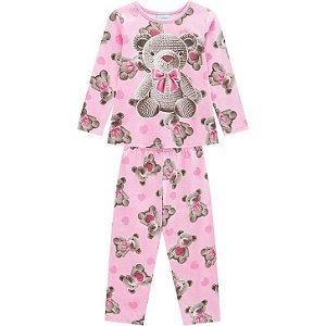 Kyly Pijama Infantil Feminino Manga Longa/Calça Malha 207.236