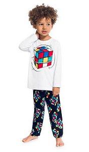 Kyly Pijama Inf Masc Ml 207.250 Cor Branco